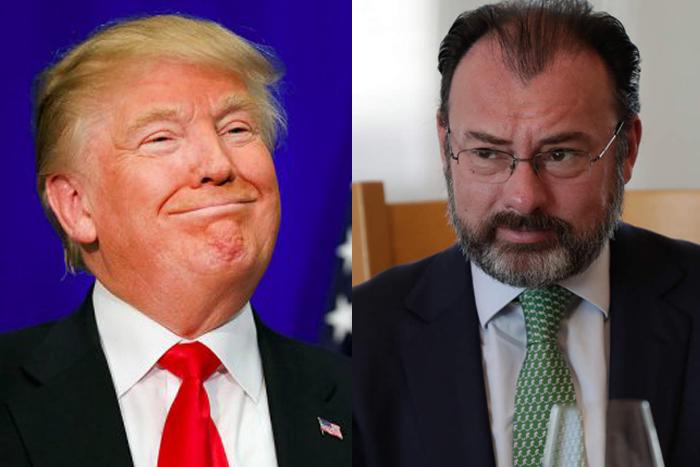 Amenazas de Trump, estrategia de negociación: Videgaray