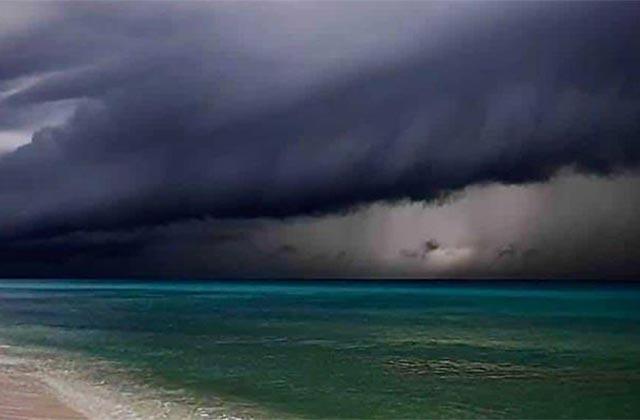 Así el ingreso de huracán Delta a Quintana Roo