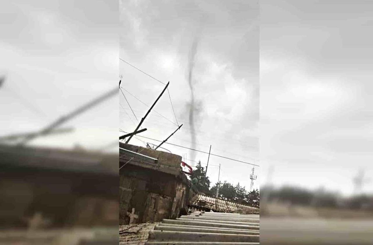 Sorprende tornado en comunidad peroteña