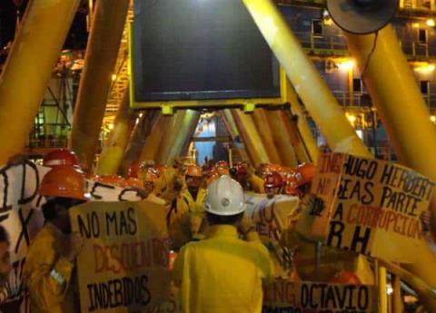 ¿Por qué protestaron empleados de Pemex en la sonda de Campeche?
