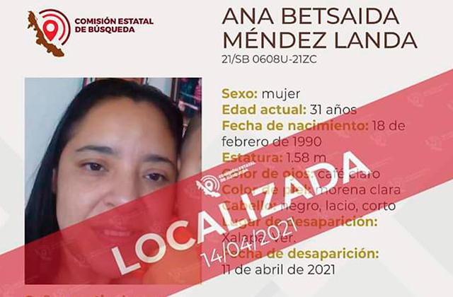 Tras 3 días búsqueda, localizan a Ana en Xalapa