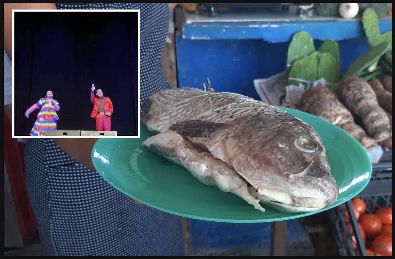 Sin funciones por covid, artista regala mojarras en Coatza