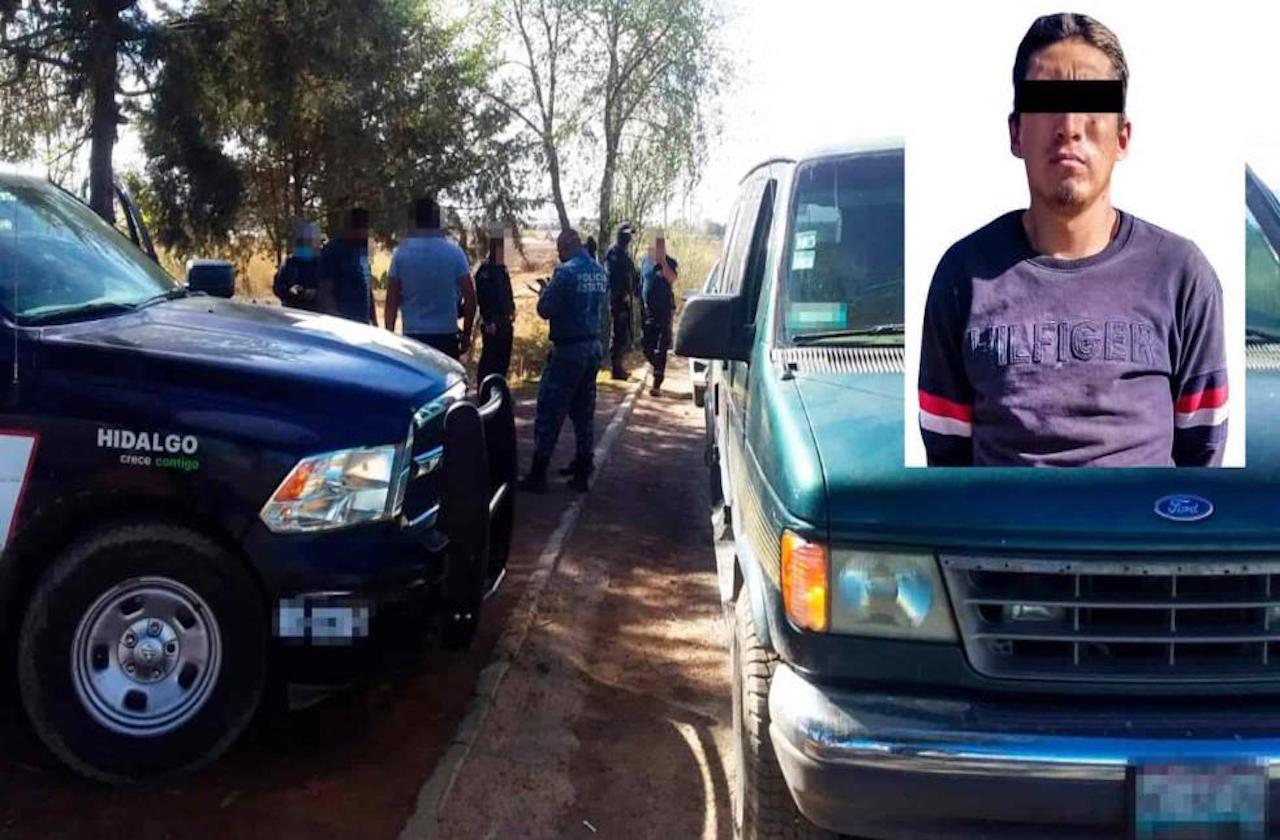 Tras asaltar combi en Veracruz, sujeto es detenido en Hidalgo