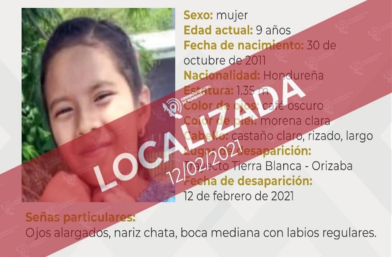 Tras quedar sola por accidente, menor hondureña viajó a Puebla