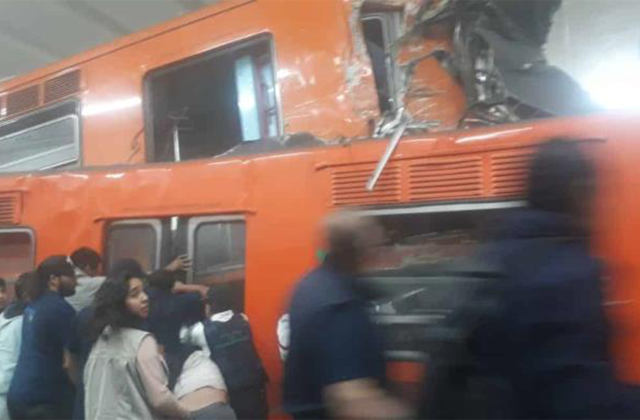 Chocan trenes en metro Tacubaya; al menos 20 heridos y 1 muerto