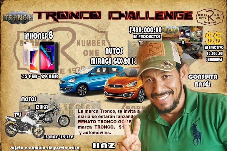 Renato Tronco ofrece dinero y autos a cambio de