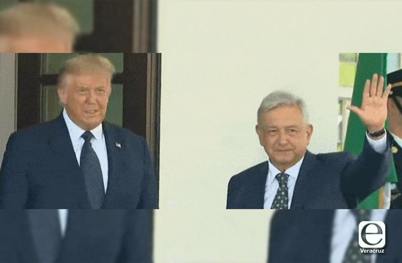 Así recibió Trump a AMLO en la Casa Blanca