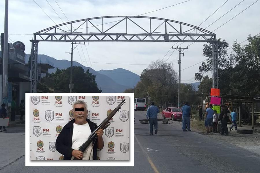 Ciudadanos exigen liberación de Don Ramón, bloquean entrada a Tecamalucan
