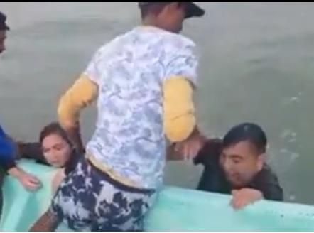 Video: Turistas casi se ahogan pero son rescatados por pescadores