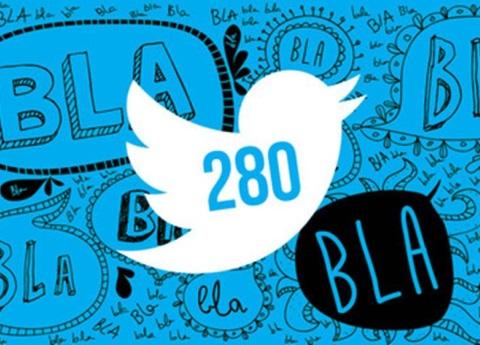 Twitter confirma límite de caracteres de 280