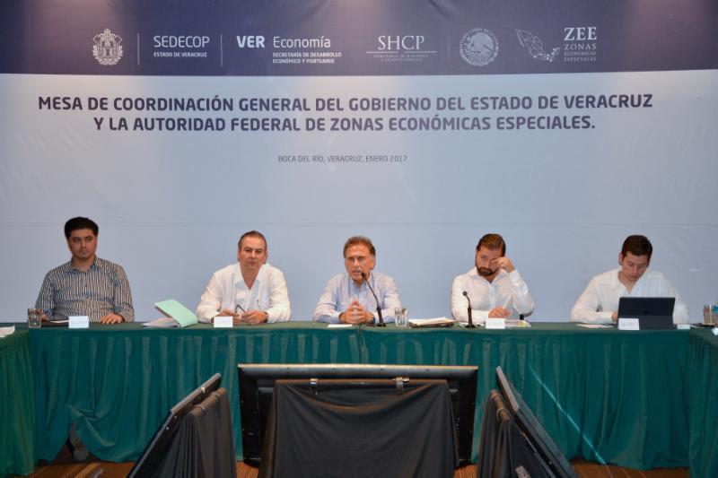 Se instala Mesa Permanente de Trabajo de las Zonas Económicas Especiales en Veracruz
