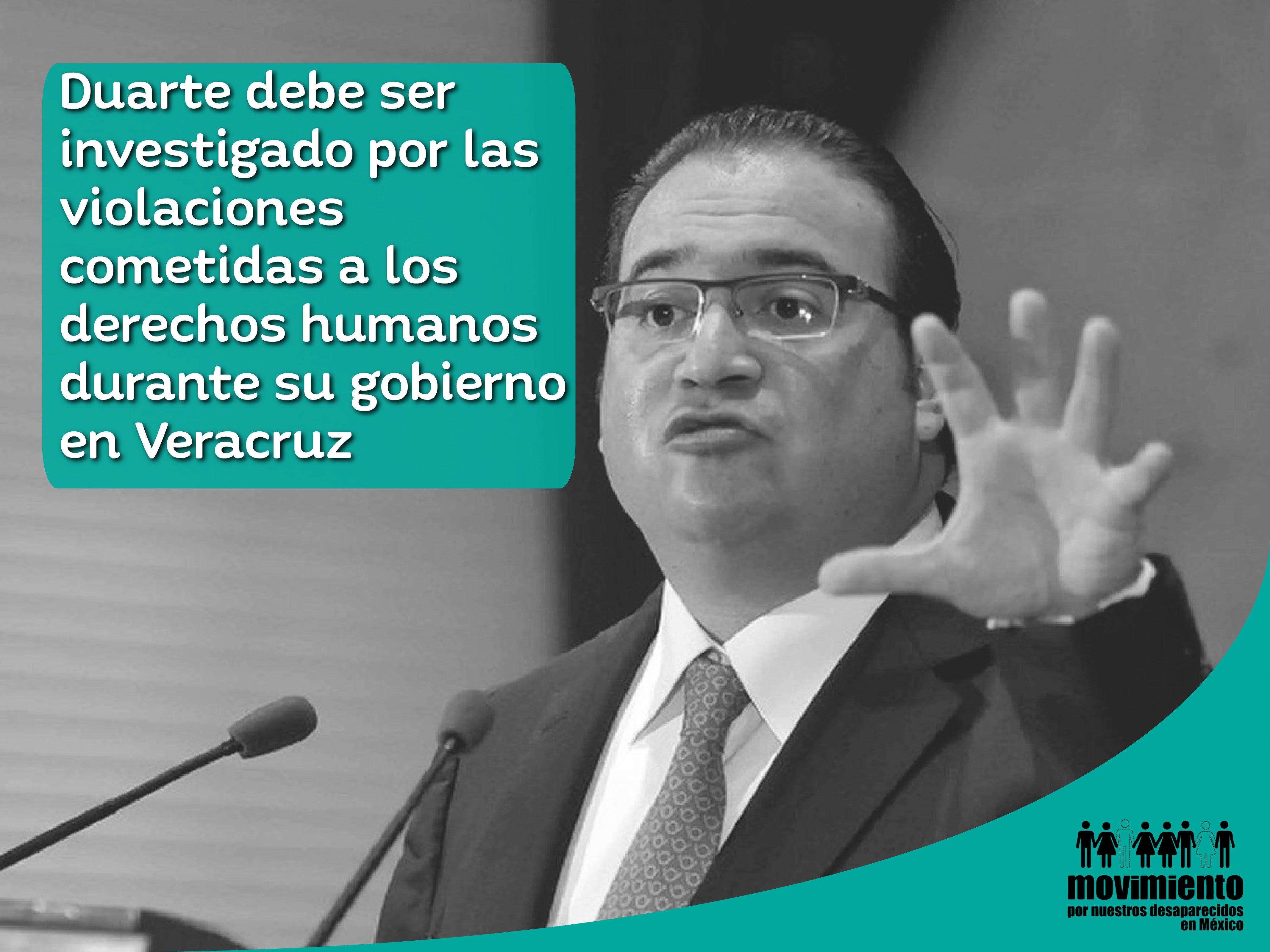 Movimiento por Nuestros Desaparecidos pide se investigar a Duarte por violaciones a Derechos Humanos