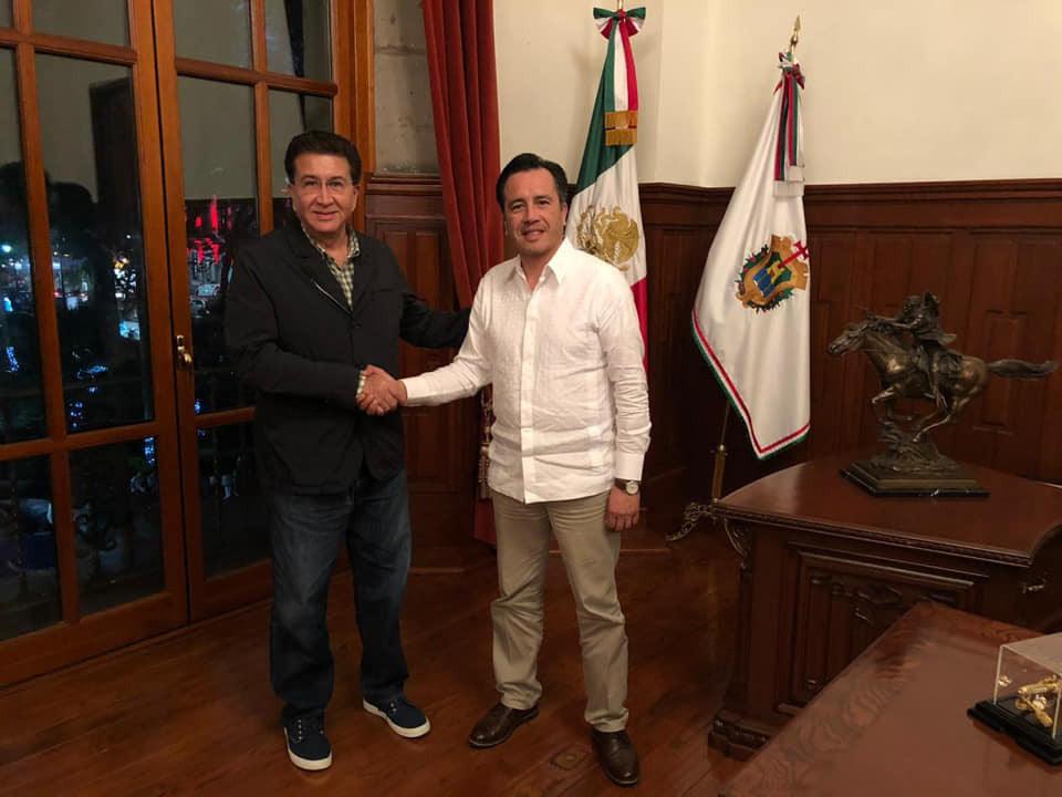 Yunes Landa presume encuentro con gobernador Cuitláhuac García