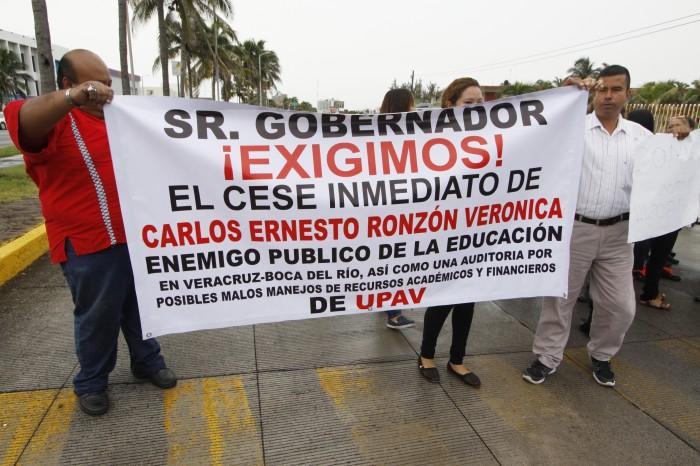 Exigen destitución del director de la UPAV en Veracruz-Boca del Río