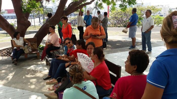 Sindicalizados protestan porque no hay aire acondicionado en la USBI
