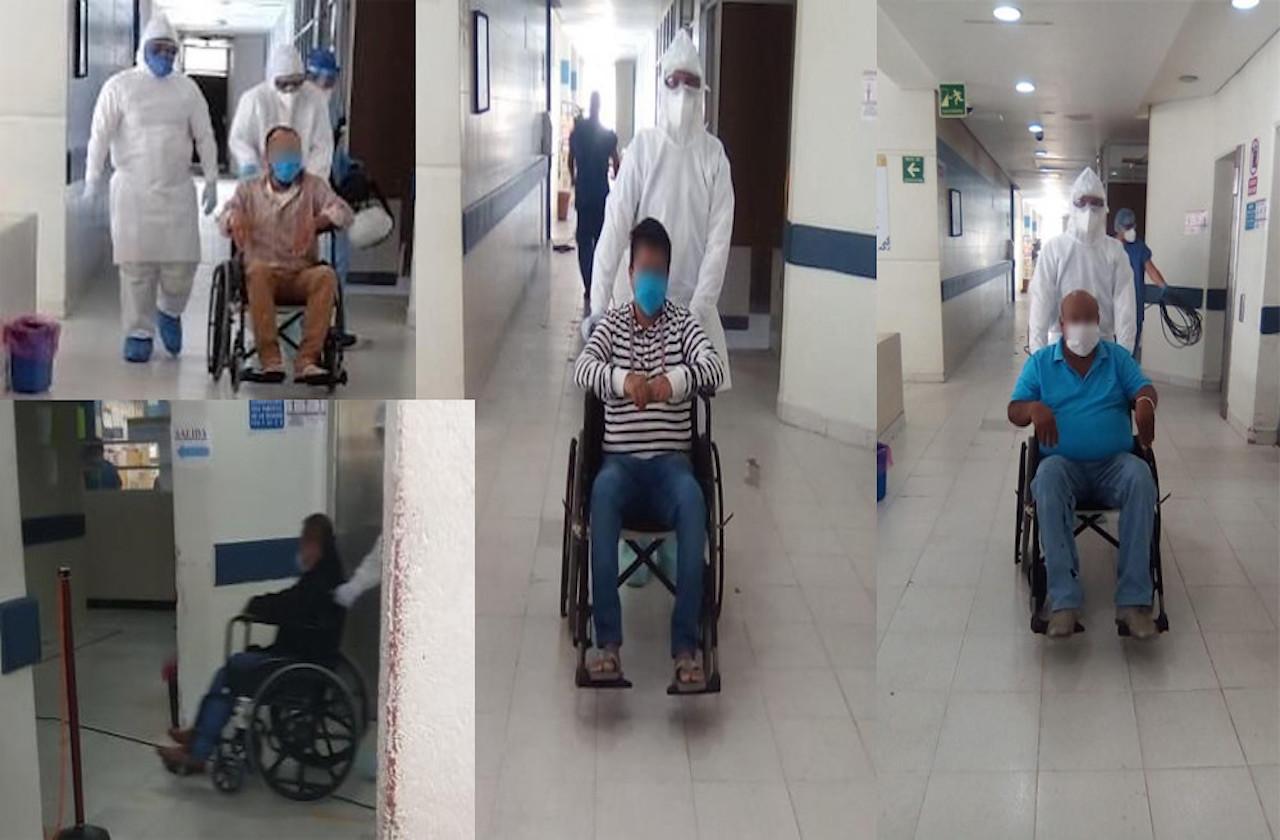Van 5 pacientes recuperados de covid en hospital de Coatza