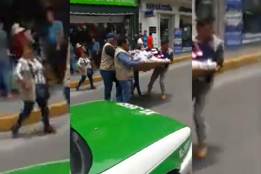 VIDEO | Inspectores decomisan por la fuerza a vendedora, comerciantes cierran Revolución