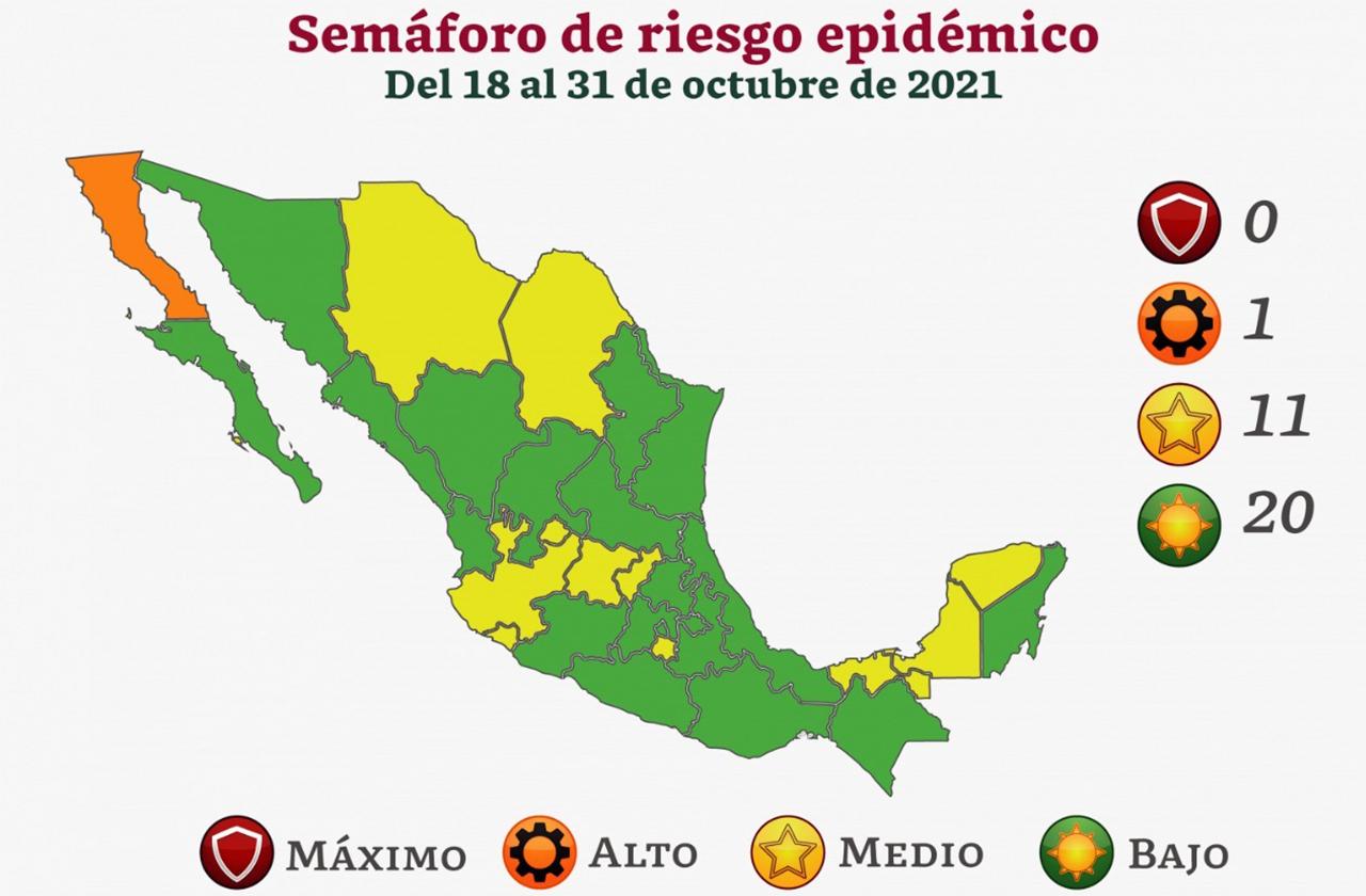 Tras tercera ola, Veracruz pasa a semáforo verde