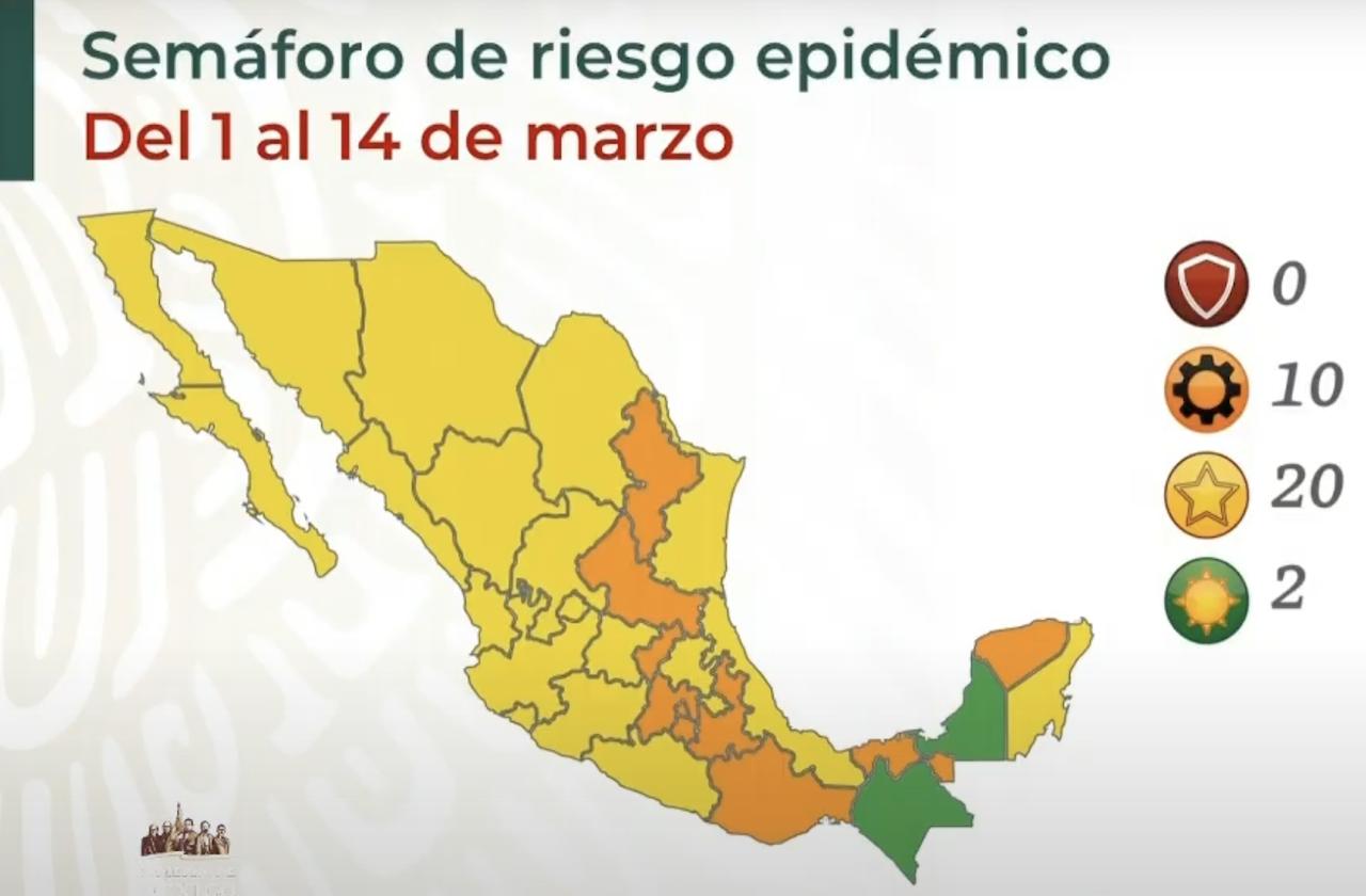 Veracruz regresó a semáforo amarillo por covid