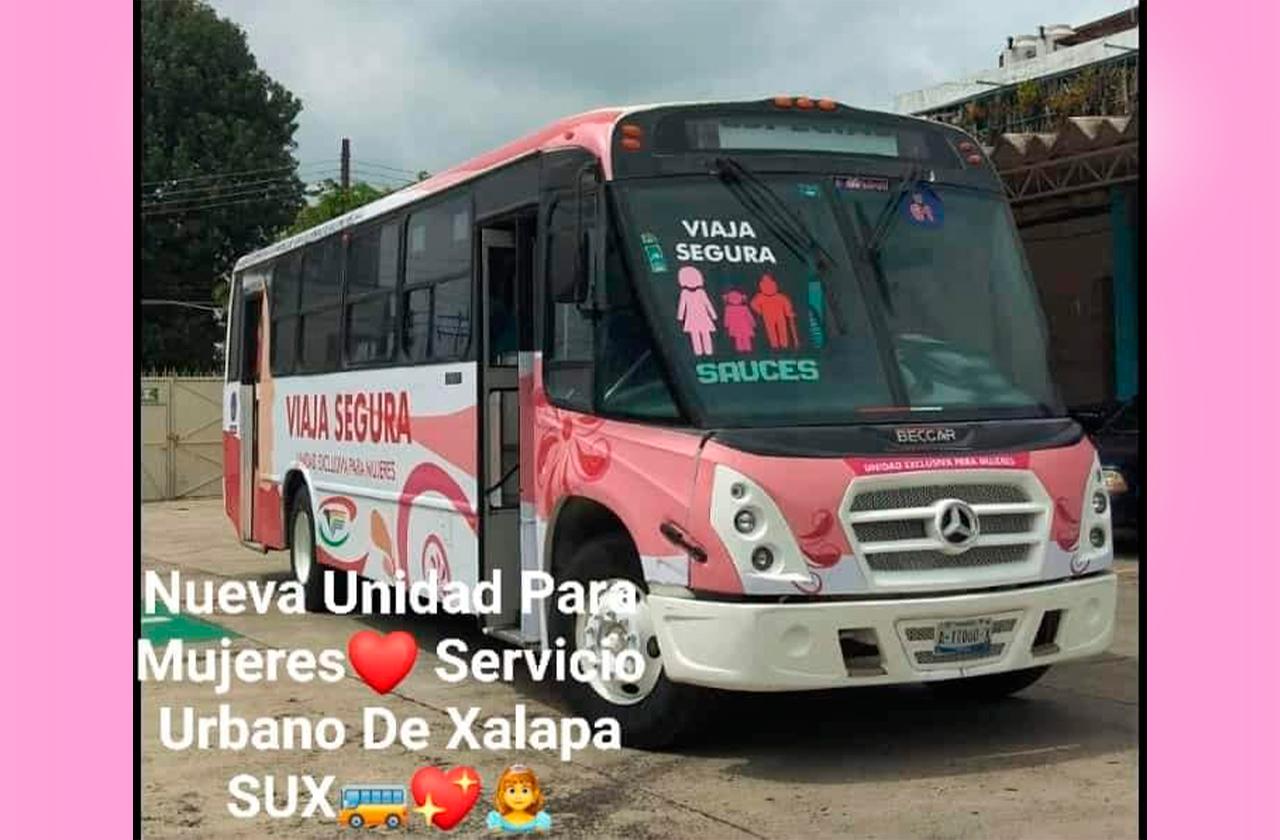 """""""Viaja segura""""; Xalapa tendrá autobús exclusivo para mujeres"""