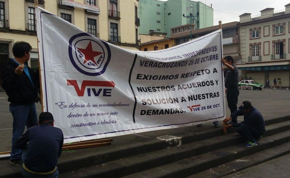 Segunda manifestación de vendedores independientes en Xalapa