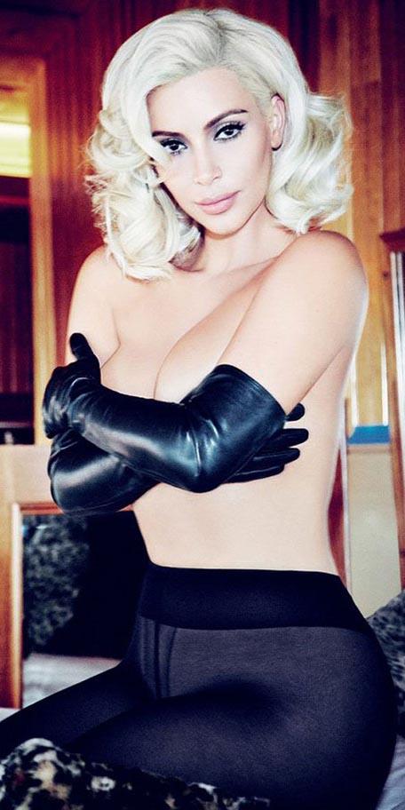 Kardashian en 'topless' y al estilo Marilyn Monroe