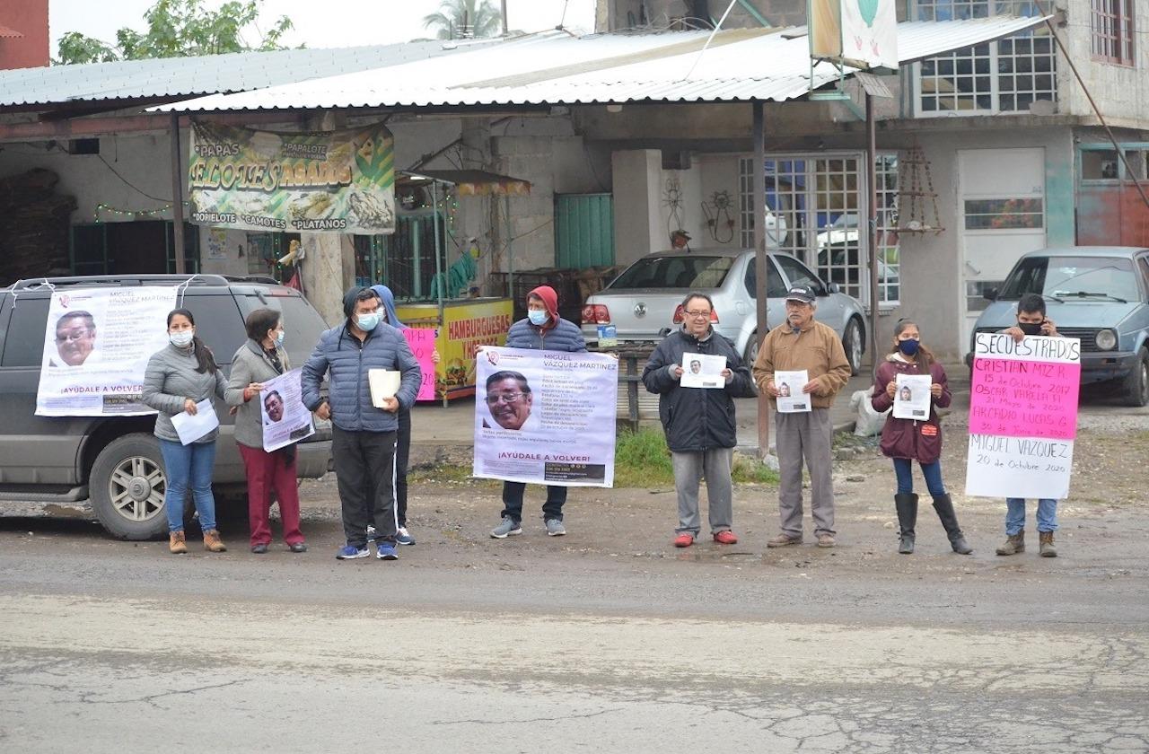 Vuelven a exigir justicia por desaparecidos en Tlapacoyan