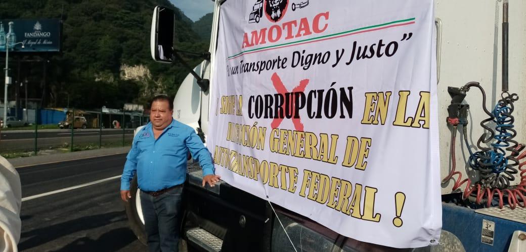 Así se unieron transportistas de Veracruz a paro nacional