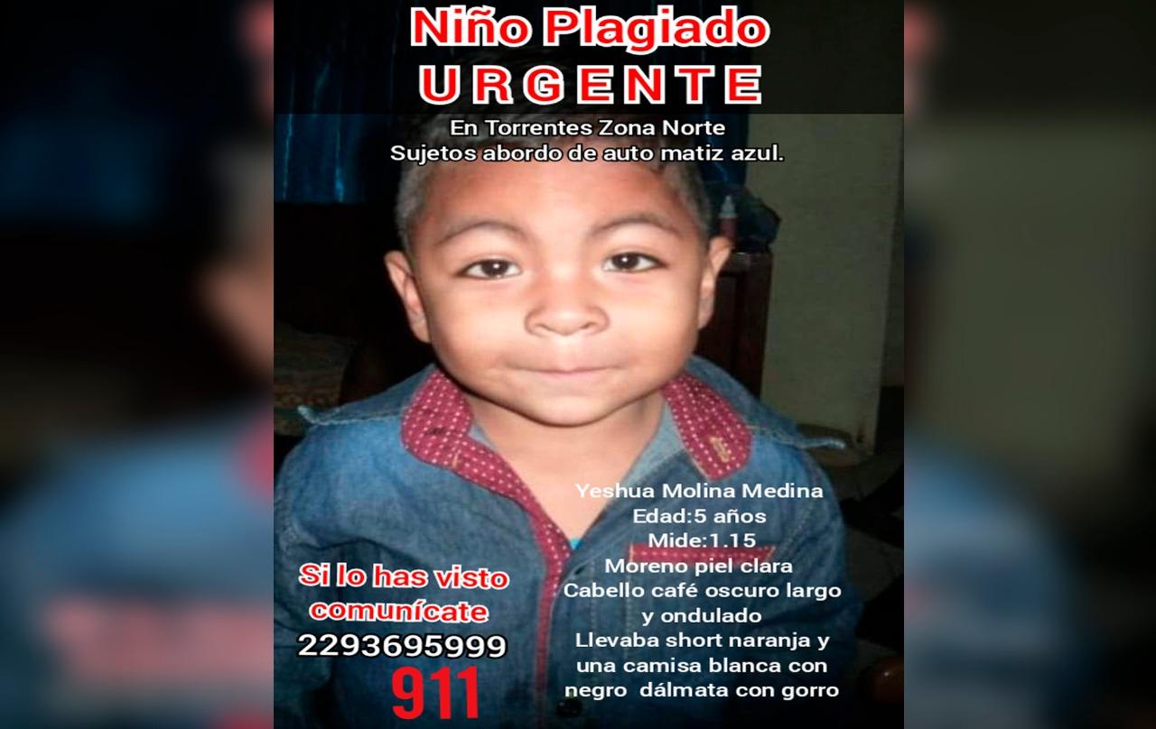 SE BUSCA | Yeshua Molina de 5 años fue raptado en Veracruz