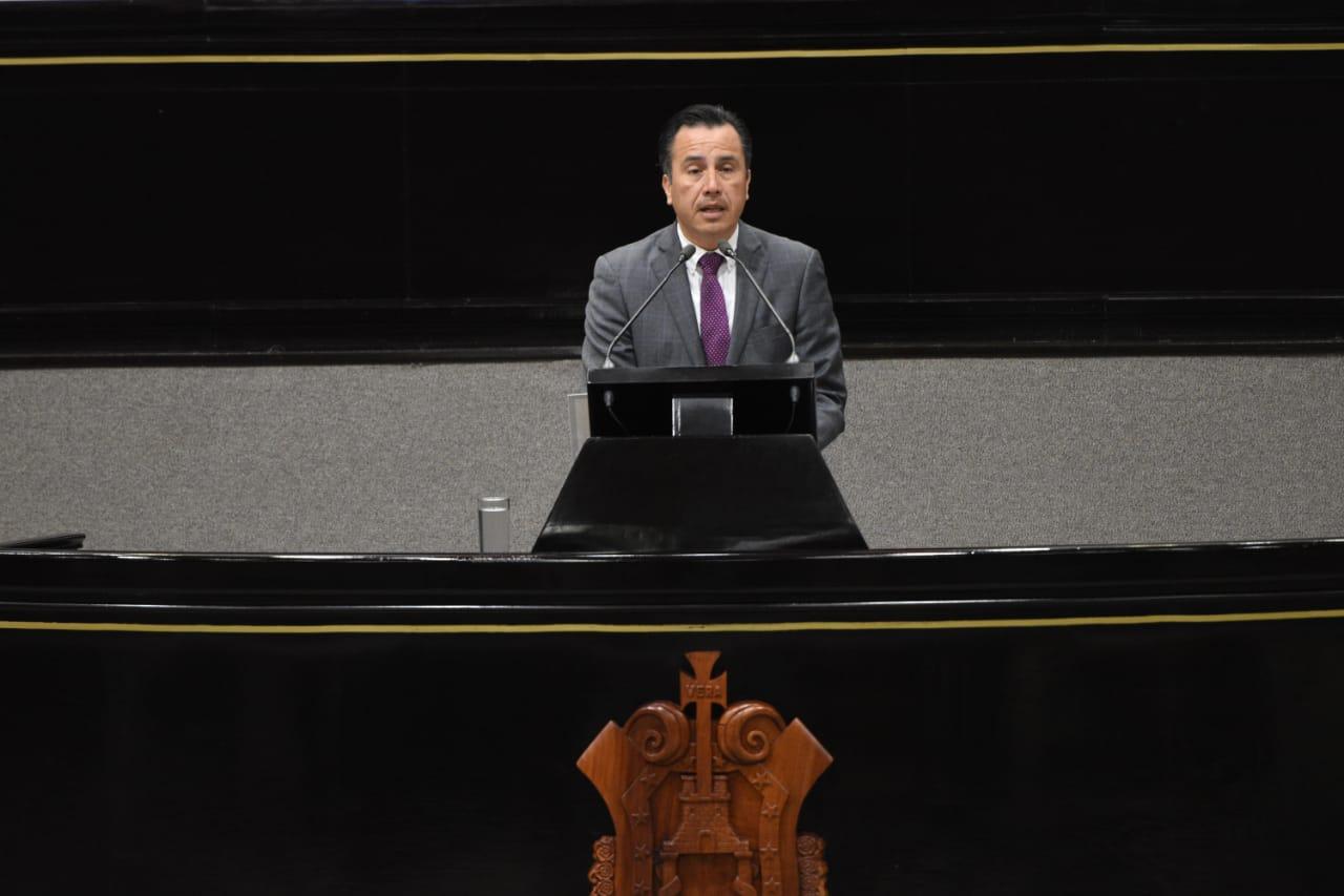 La transformación lleva ritmo y tiempo: Cuitláhuac en Congreso de Veracruz