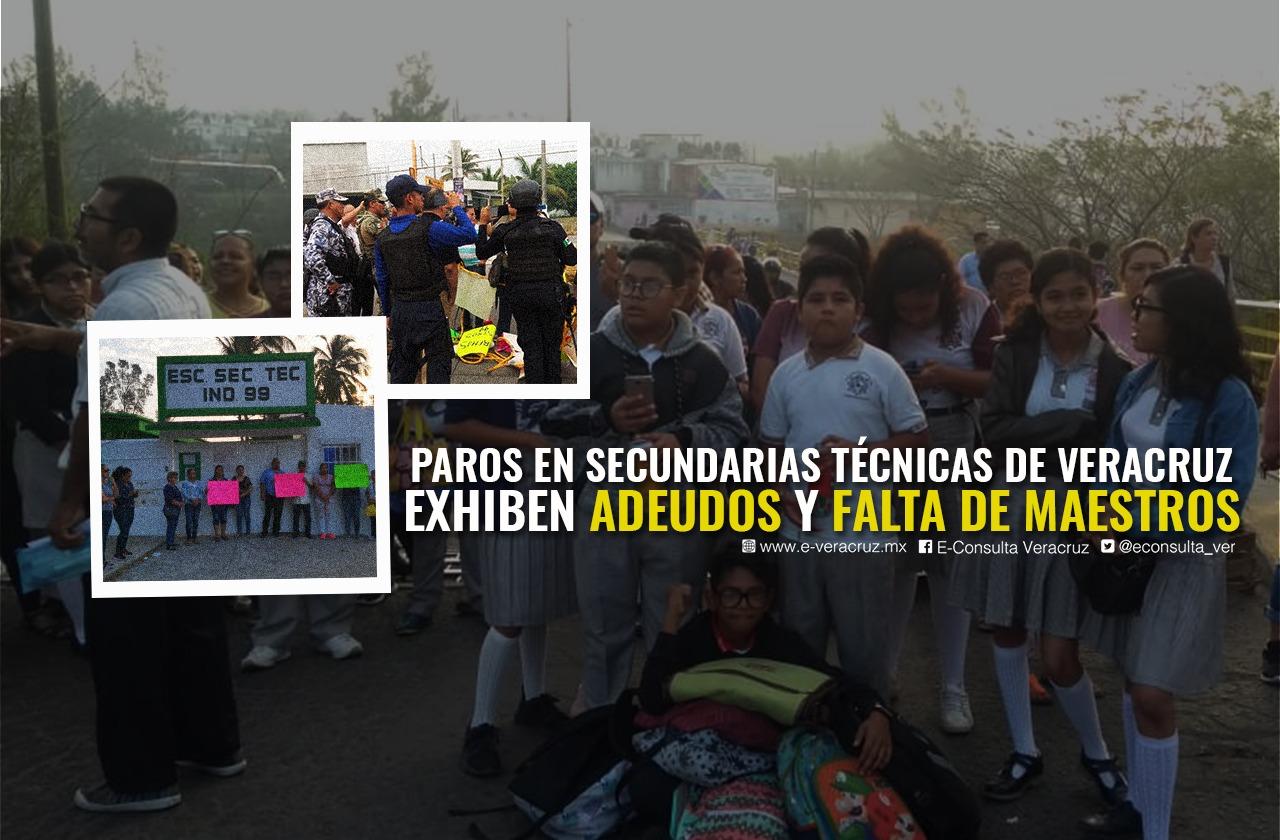 Paros en ETI´s de Veracruz exhiben adeudos y falta de maestros