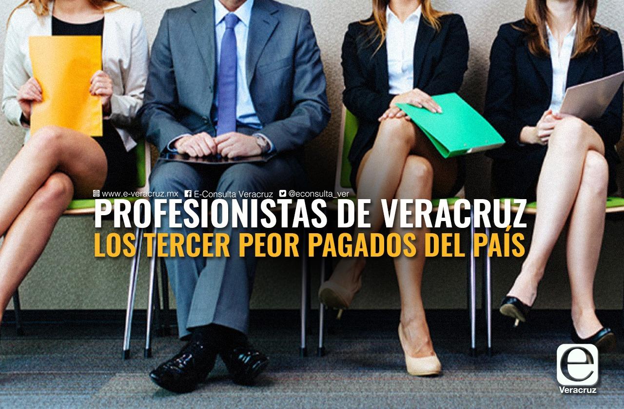 Profesionistas veracruzanos, entre los peor pagados del país