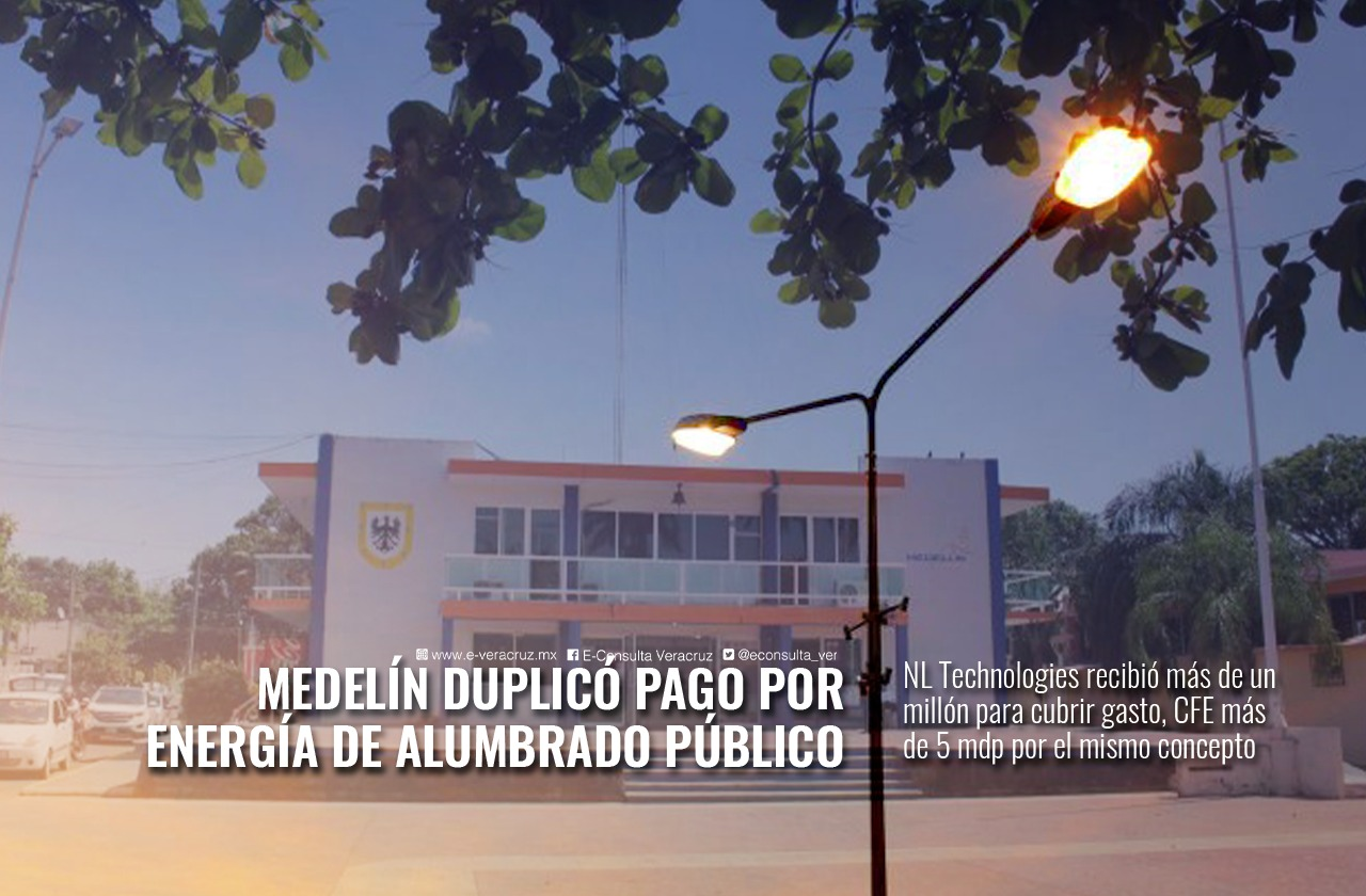 Ayuntamiento de Medellín duplicó pagos por alumbrado público