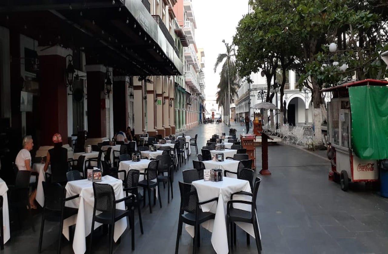 Los restaurantes populares de Veracruz cierran ante el coronavirus