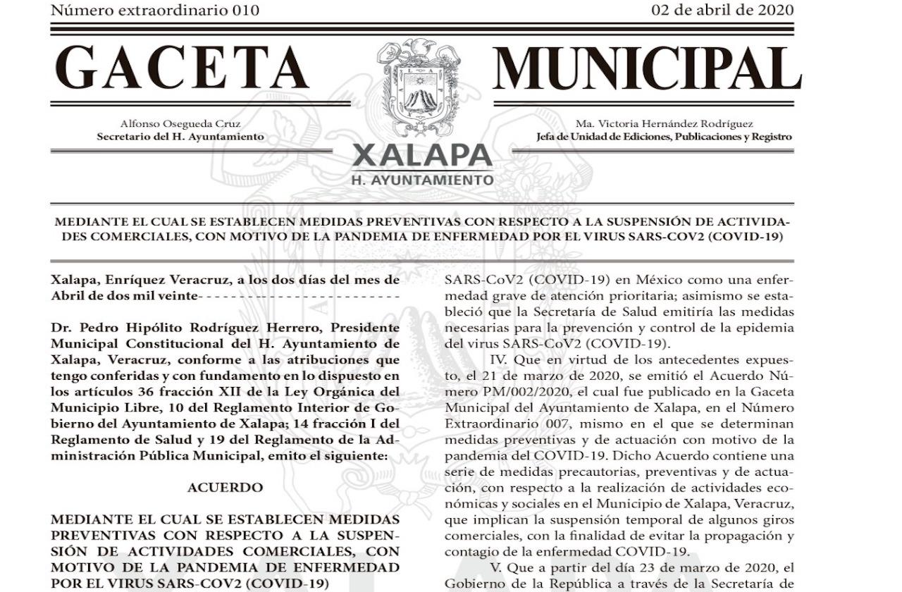 Restringen actividades económicas no esenciales en Xalapa por coronavirus