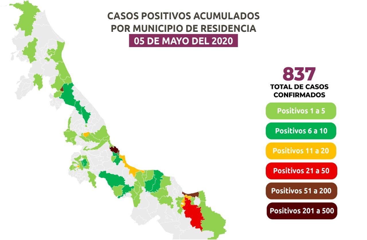 Veracruz registra su peor día en cuarentena: 10 muertes en 24 horas