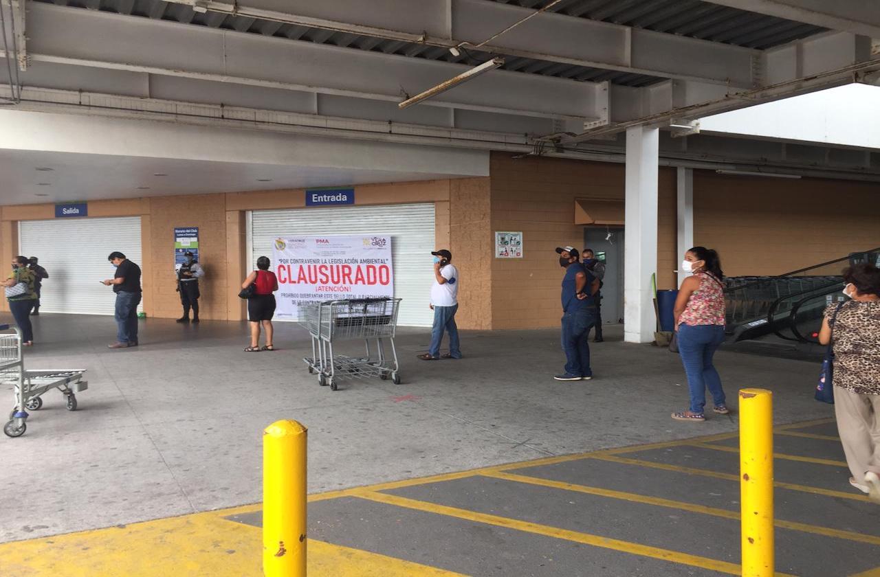 Clausuran Sam's Club en Veracruz puerto