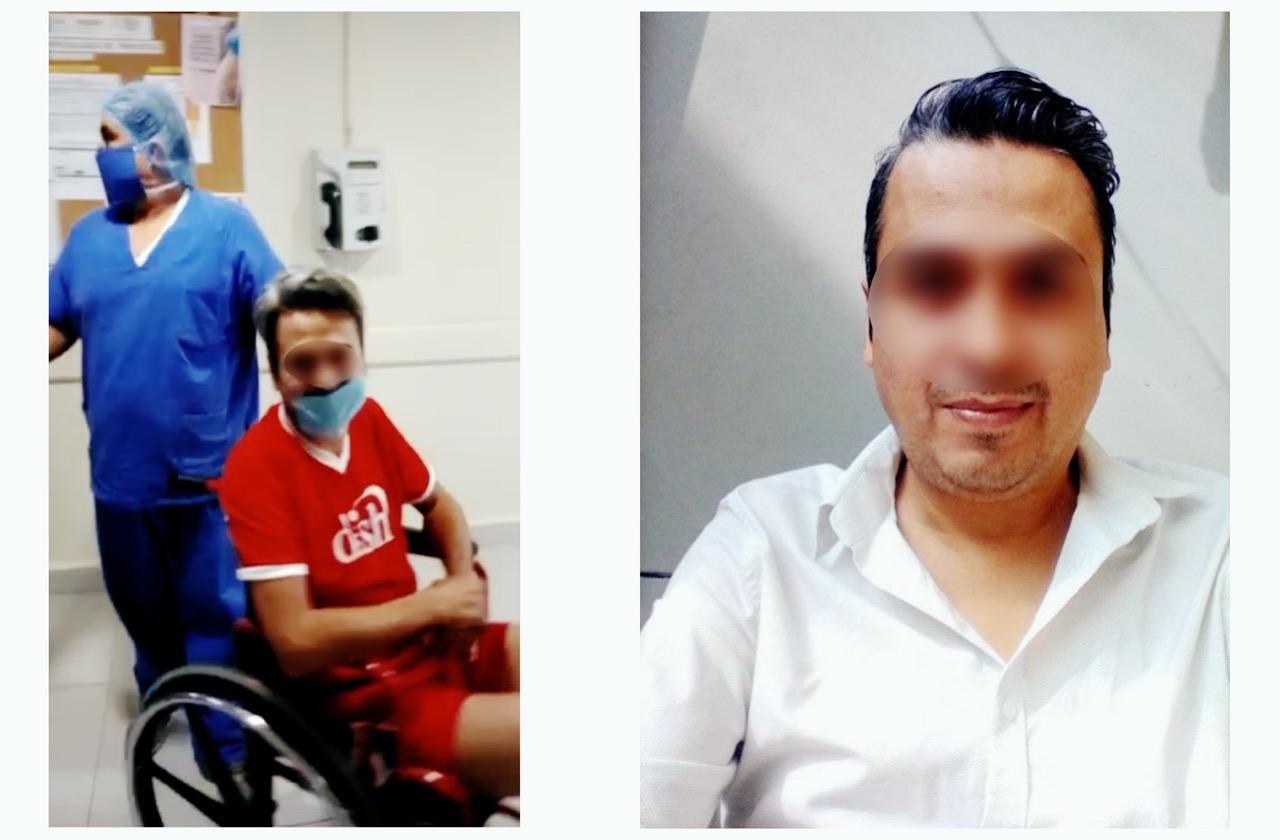 Tras no creer, Enrique pasó 20 días internado por covid