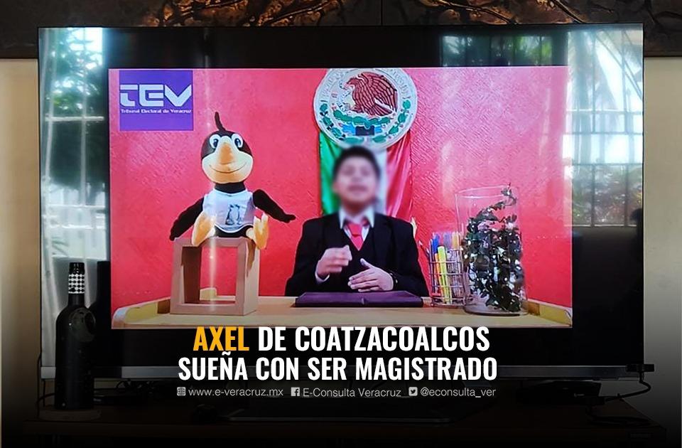 Él es Axel, niño veracruzano premiado por el Poder Judicial
