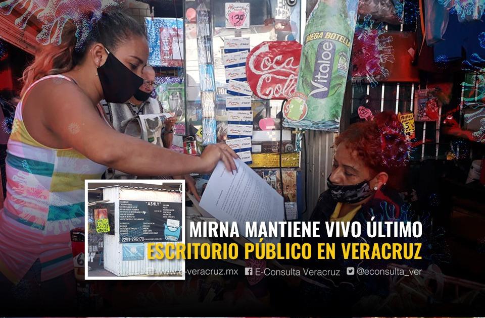 En pandemia, Mirna mantiene último escritorio público en el puerto