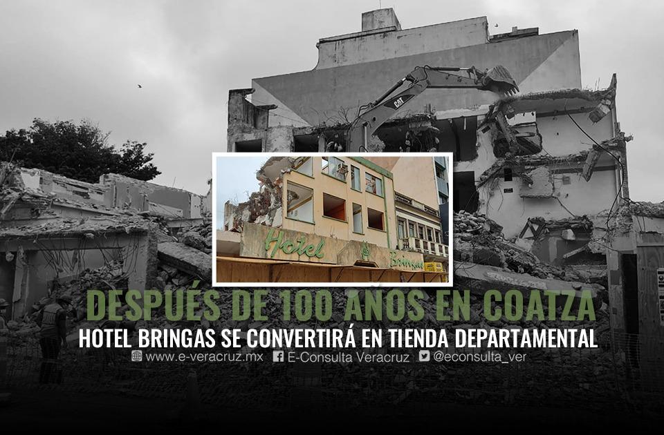 Hotel Bringas, adiós a 100 años de historia en Coatzacoalcos