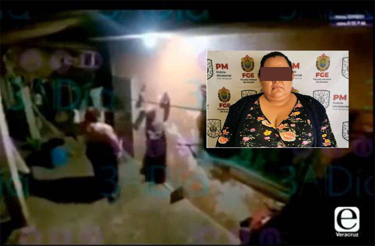 Detienen a Anahí N, se hizo viral por golpear a su tío en Coatepec