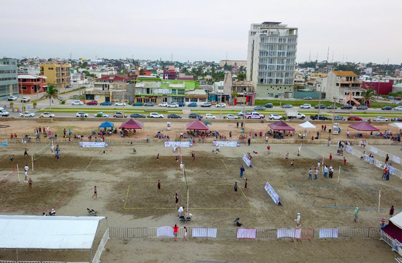 Con festival de voleibol, Coatza reactiva turismo deportivo