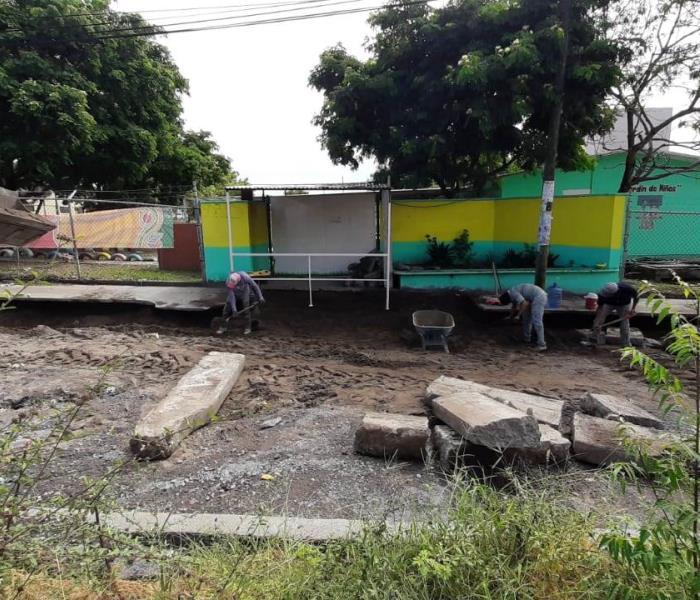 Demora en obra causa deslave en Jardín de Niños en Veracruz