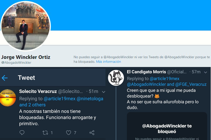 Fiscal de Veracruz debe desbloquear a periodista en Twitter: Juez