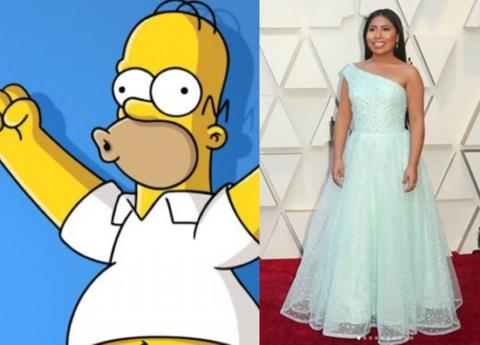 """Sorprende caricatura de Yalitza estilo """"Los Simpson"""""""