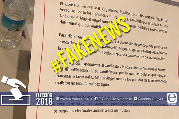 Desmienten cancelación de candidatura de Yunes Márquez