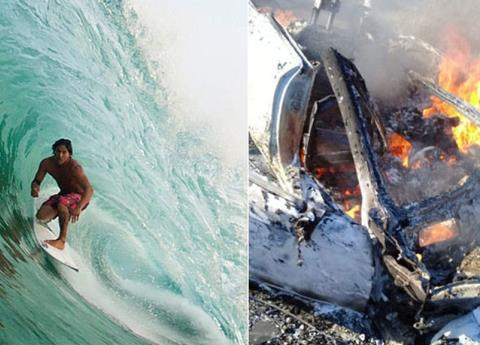 Surfista oaxaqueño muere en accidente carretero; participó en competencias internacionales